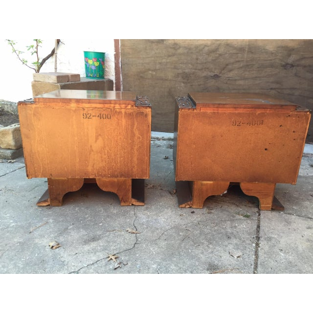 Brown United Furniture Brutalist Side Tables - A Pair For Sale - Image 8 of 8