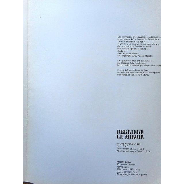 1970s Vintage Mid 20th C. Ltd. Ed Dbl. Page Lithograph-Derriere Le Miroir-Signed-Maeght, Paris For Sale - Image 5 of 6