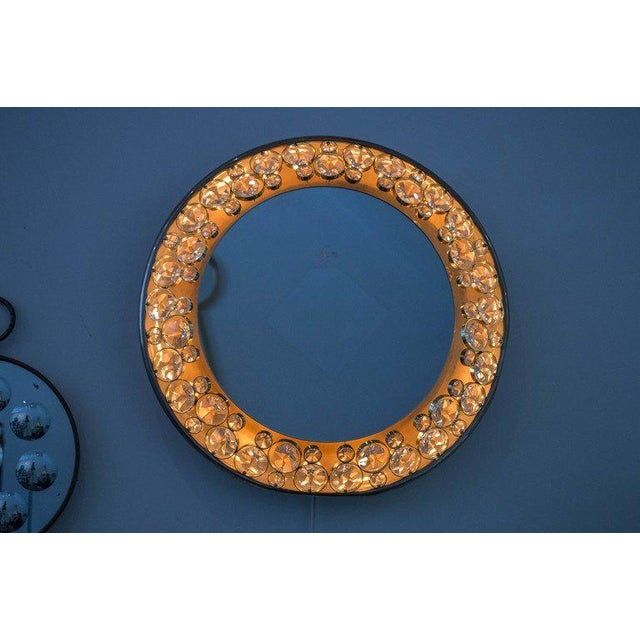 Brass 1960s Palwa Illuminated Mirror For Sale - Image 7 of 10