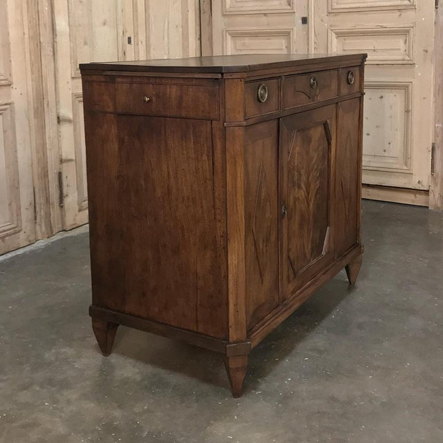 Wood 18th Century English Mahogany Pop Up Serving Buffet For Sale - Image 7 of 13