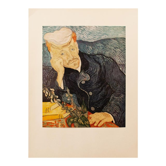 1950s Van Gogh, First Edition Lithograph After Portrait of Dr. Gachet For Sale