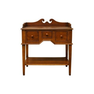 "Hickory Chair Solid Cherry Wood 29"" Accent Table / Nightstand For Sale"