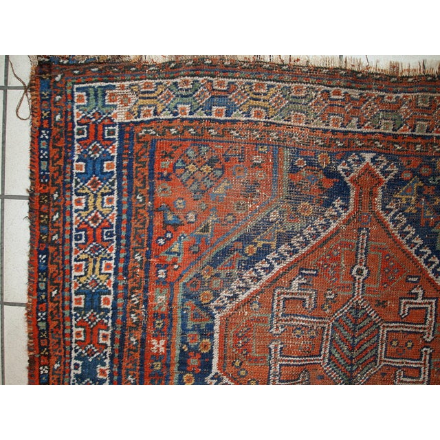 1910s Antique Persian Shiraz Rug - 3′9″ × 5′ - Image 5 of 11