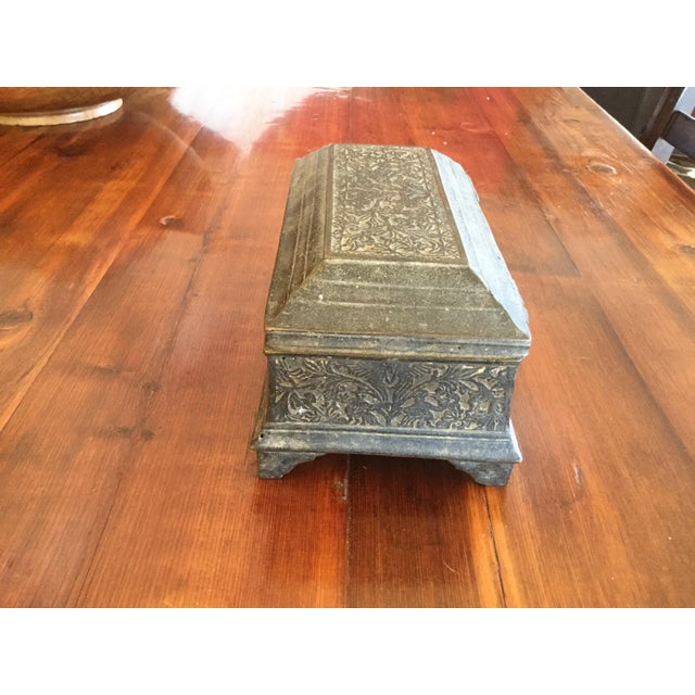 Asian Antique Brass Betal Nut Box From Madeira, Indonesia For Sale - Image 3 of 8