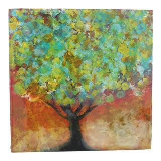 "Marie Danielle Leblanc, ""Organya Tree"", Mixed Media Painting , Wood Panel, Tree For Sale"