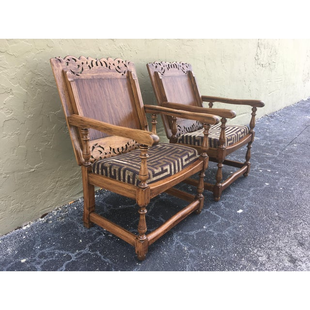 French 19th Century Convertible Pair of Monk's Chair or End Table,Foldable Armchair For Sale - Image 3 of 11