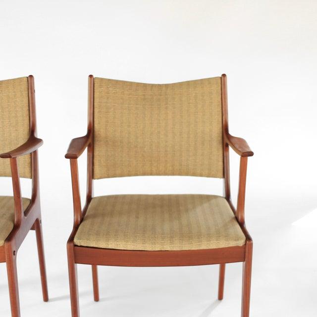 1960s Mid Century Danish Modern Johannes Andersen for Uldum Møbelfabrik Dining Chairs- A Pair For Sale - Image 5 of 11