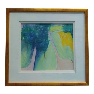 1990s Carol Chase Original Oil Pastel Abstract Painting For Sale