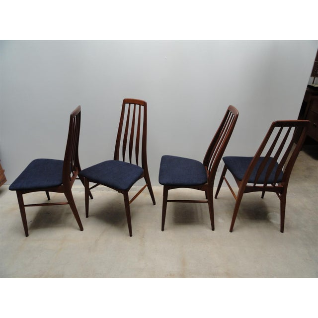 Danish Modern Eva Dining Chairs by Koefoeds Hornslet - Set of 4 - Image 10 of 10