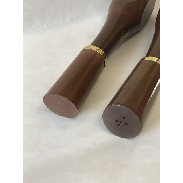 Mid-Century Modern Vintage Mid Century Modern Wooden Salt Shaker and Pepper Mill - a Pair For Sale - Image 3 of 6