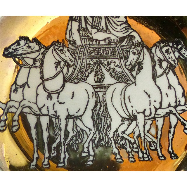 1950s Fornasetti Roman Chariot Coasters - Set of 4 For Sale - Image 5 of 6