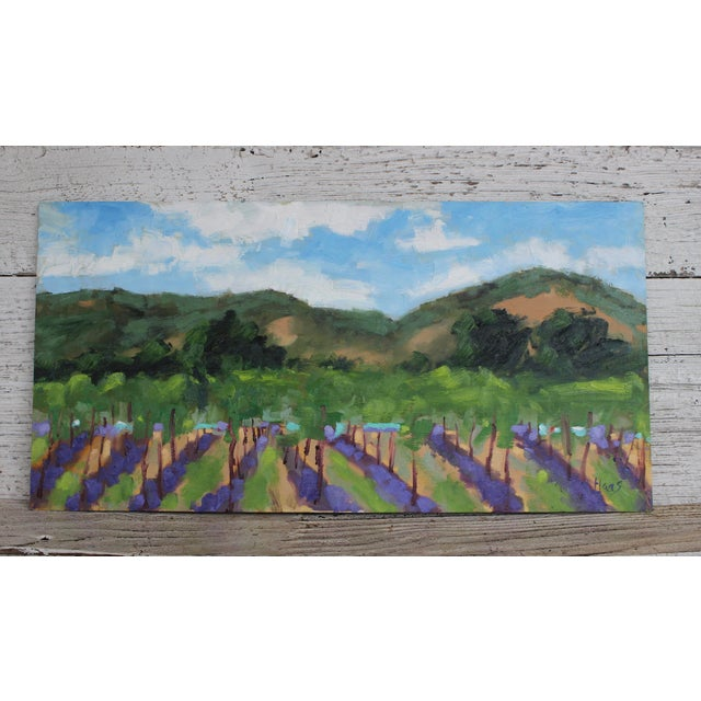 Original Oil Painting Landscape Plein Air, Sonoma Vines For Sale - Image 9 of 12