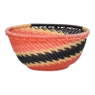 Small Wire Basket After Navajo Indian American For Sale
