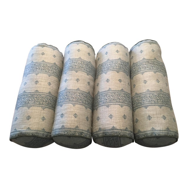 Peter Dunham Fez Linen Bolster Pillows - Set of 4 - Image 1 of 4