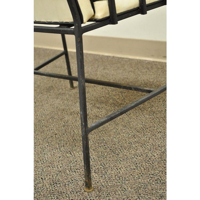 Item: Vintage Mid Century Modern Wrought Iron Armchair by Creative Metal Products Inc. Designer is unconfirmed but the...