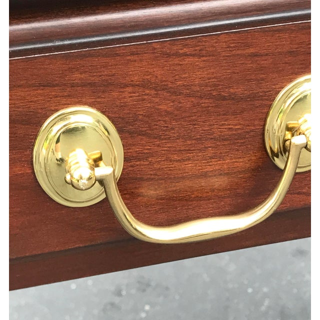 Harden Furniture Harden Chippendale Sofa Table Credenza With Benches a Pair For Sale - Image 4 of 13