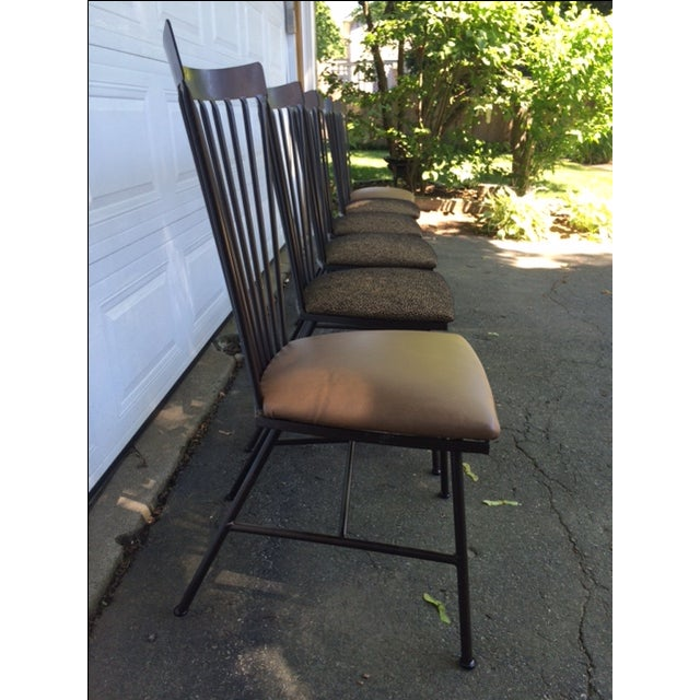 1950's Mid-Century Metal Dining Chairs - 6 - Image 4 of 11