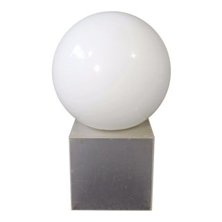 1970s Mid Century Modern Italian Style Glass Ball Table Lamp