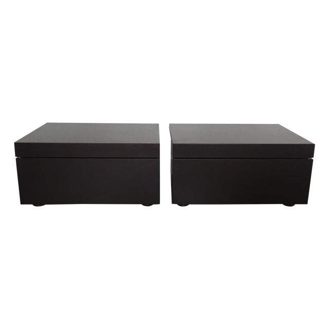 Poliform Abbinabili Attri. Nightstands - A Pair - Image 1 of 11