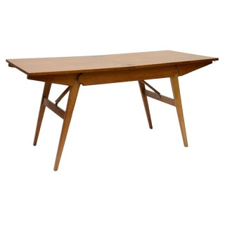 French Oak Collapsible Desk/Cocktail Table For Sale