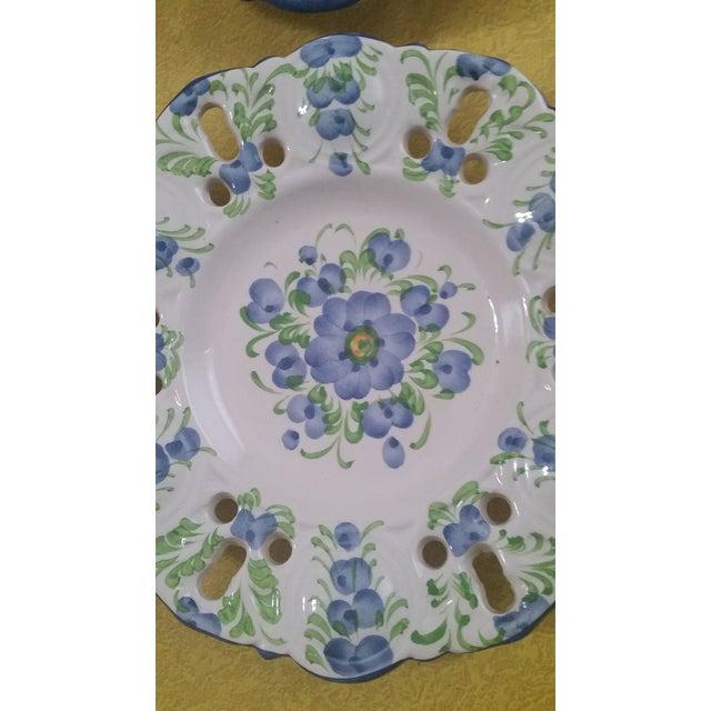 Ceramic Vintage Jay Willfred Portugal Hand Painted Porcelain Plates - Set of 4 For Sale - Image 7 of 10