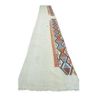 "Vintage Turkish Tribal Kilim Rug-2'4'x15'1"" For Sale"
