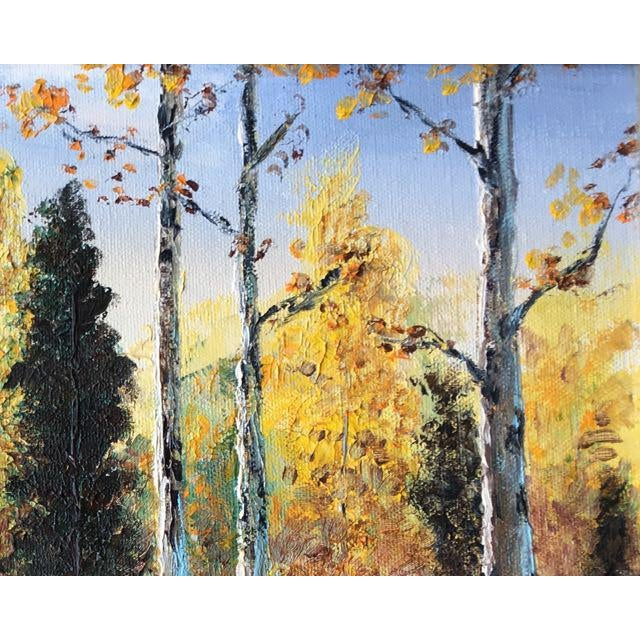 Autumn Aspens Original Painting For Sale In Tampa - Image 6 of 9