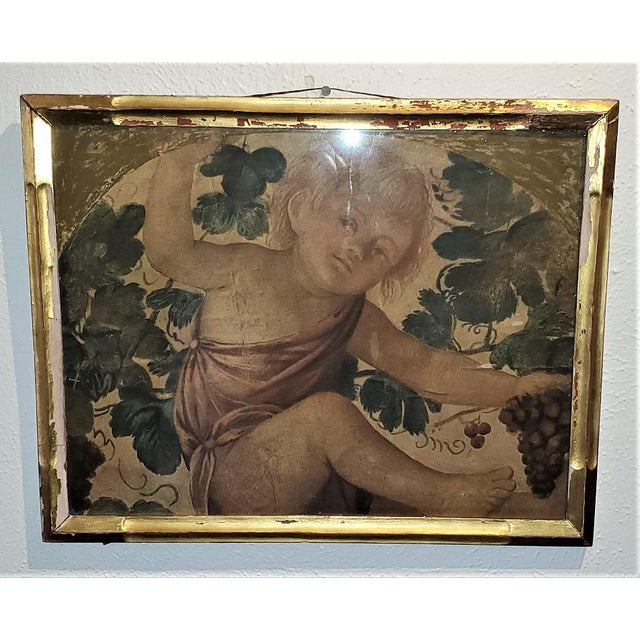 Early 20th Century Early 20th Century Medici Print of Putti Under a Vine For Sale - Image 5 of 11