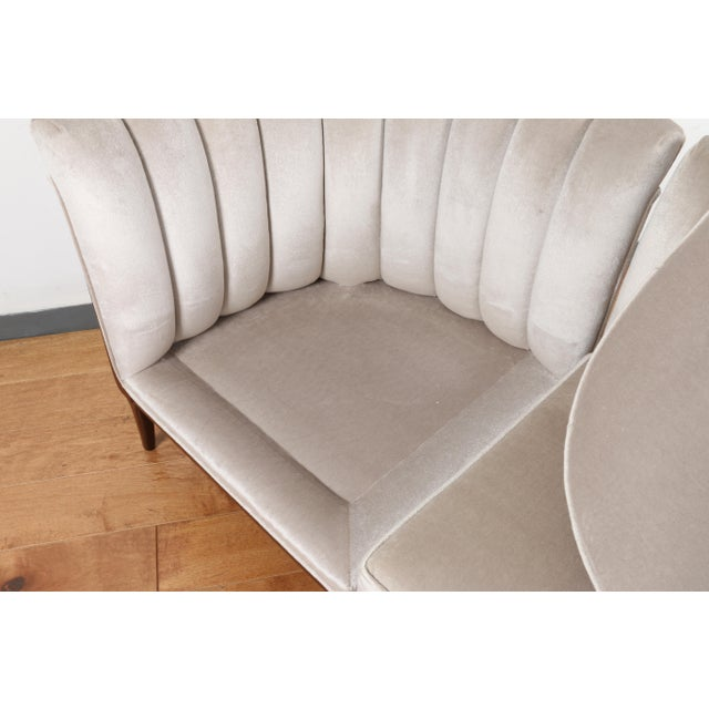 Mohair Hollywood Regency Pair of Chairs For Sale - Image 12 of 13
