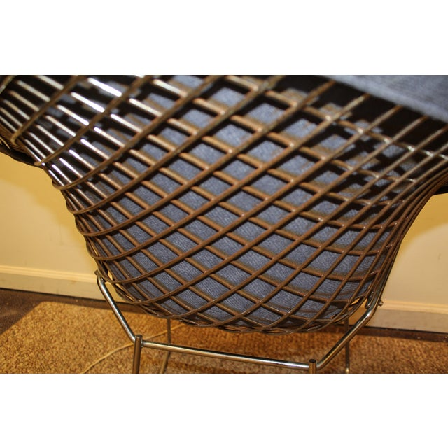Bertoia Mid-Century Blue Diamond Chairs - Pair - Image 9 of 11