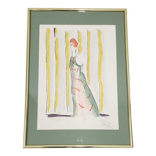 "Peter Max ""Standing Figure"" Original Color Lithograph C.1970s For Sale"