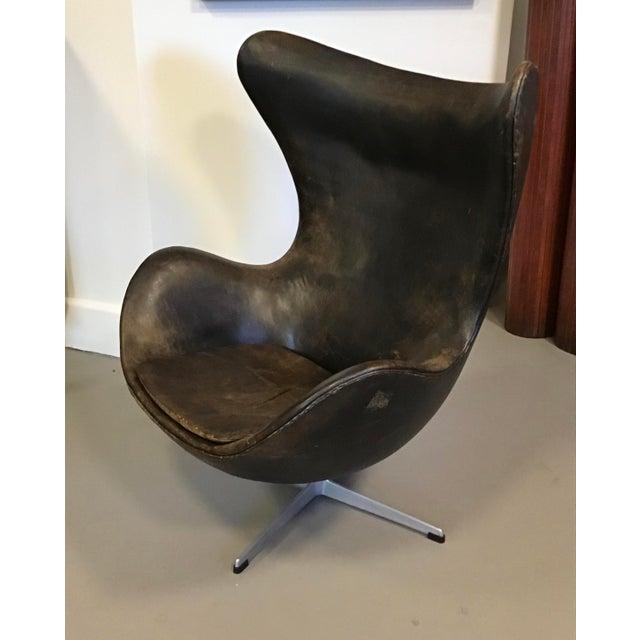1960s Early Arne Jacobsen for Fritz Hansen Egg Chair For Sale - Image 5 of 10