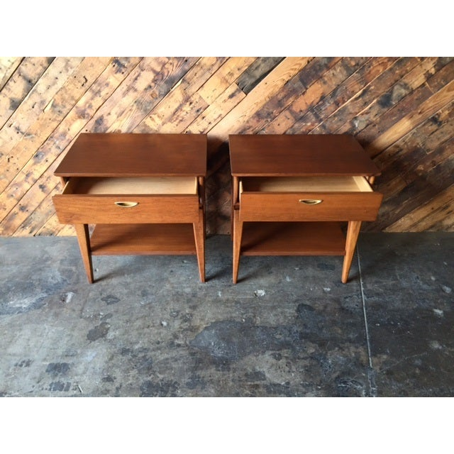 Mid-Century Refinished Kent Nightstands - Pair - Image 5 of 7