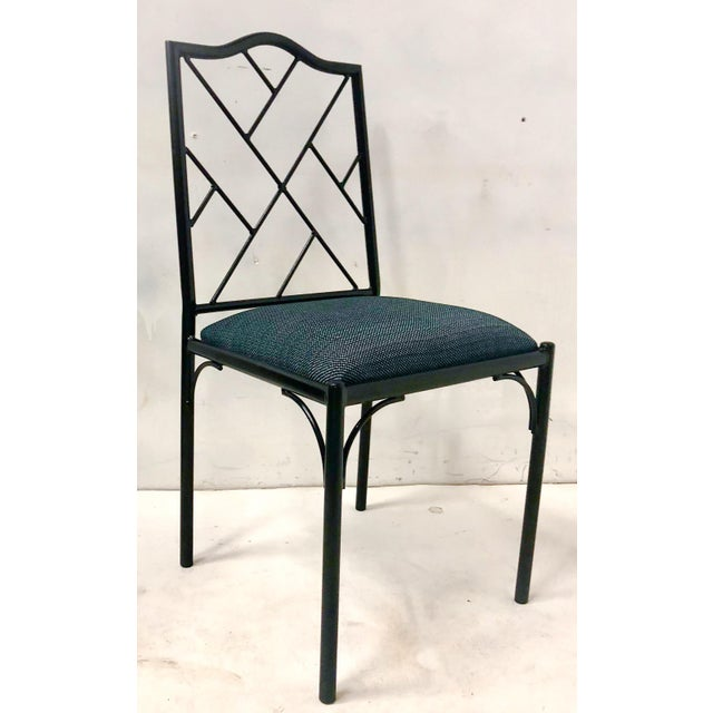 Metal Chippendale Style Dining Chairs, Set of Six For Sale - Image 7 of 12