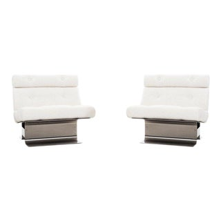 Pair of François Monnet Lounge Chairs For Sale