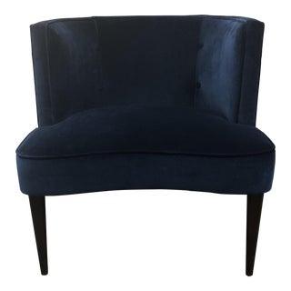 Room & Board Blue Vance Indigo Velvet Chloe Chair