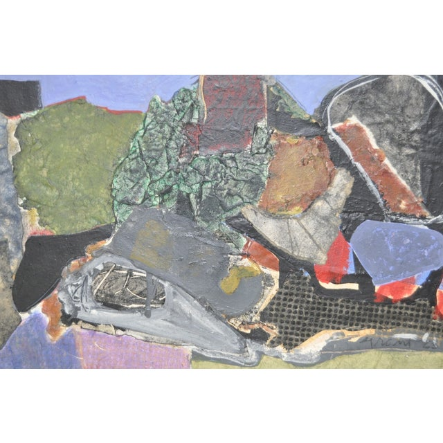 James Grant (1924–1997) Mixed Media Abstract 1963 - Image 3 of 6