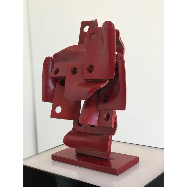 Metal Vintage Brutalis Sculpture by Edgar Negret For Sale - Image 7 of 10