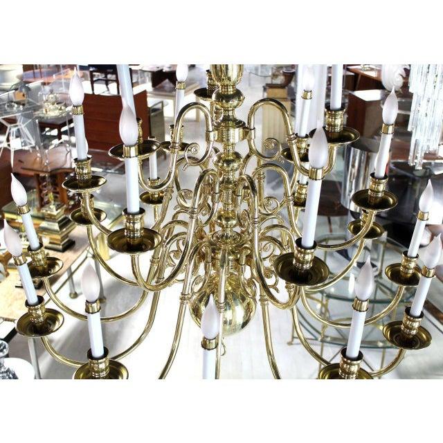 Brass Vintage Brass Candelabra Chandelier For Sale - Image 7 of 10