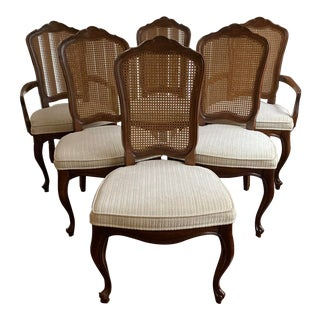 1970s Vintage Drexel French Provincial Chairs- Set of 6 For Sale