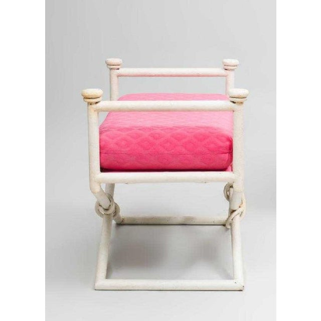Hollywood Regency Pair Hollywood Regency X-Base Benches For Sale - Image 3 of 5