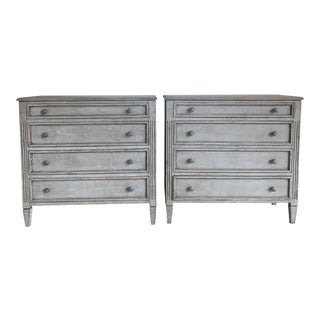 Shabby Chic Custom 4-Drawer Chests - a Pair For Sale
