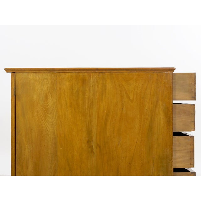 19th Century English Antique Mahogany and Leather Pedestal Desk For Sale - Image 12 of 13