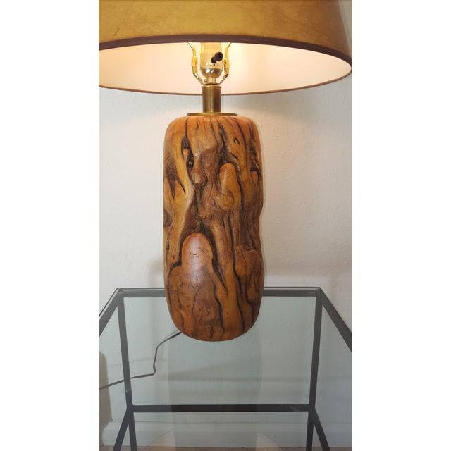 Lodge California Tamarisk Hand-Turned Lamp For Sale - Image 3 of 7