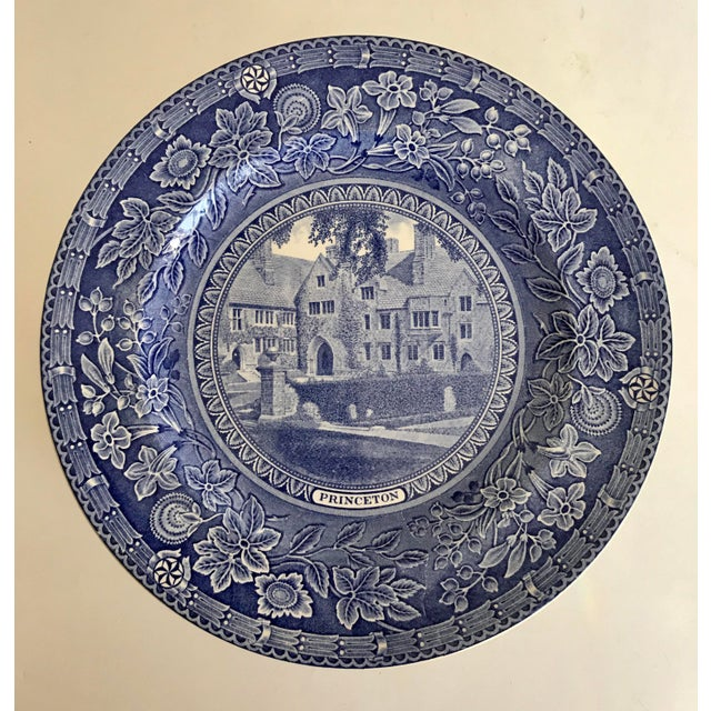 Here is a set of 9 plates made in England by Wedgwood in 1930-1931. Each plate depicts a unique building from Princeton...