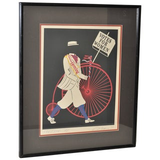 "Robert Indiana ""Votes for Women"" Lithograph C.1977 For Sale"