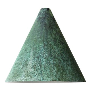 Hans-Agne Jakobsson 'Tratten' Patinated Copper Outdoor Sconces For Sale