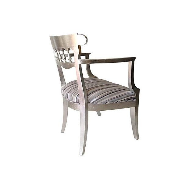 1950's Baker Silver Leaf Klismos Chair - Image 6 of 8