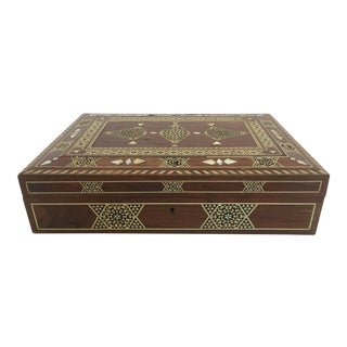Large Islamic Syrian Wooden Micro Mosaic Box For Sale