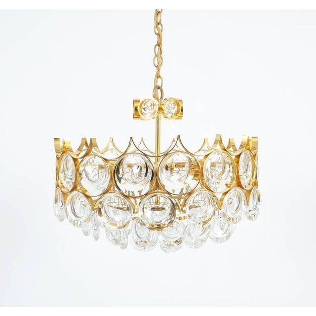 Exceptional palwa pair of petite gold brass glass chandeliers lamps palwa pair of petite gold brass glass chandeliers lamps refurbished 1960 image 7 of aloadofball Gallery